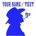 Custom Blue Smoking Cowboy