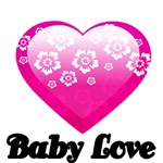 BABY LOVE. WITH PINK HEART