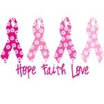 Hope Faith Love Ribbons