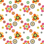 Cute Orange, Pink and Yellow Flower Pattern