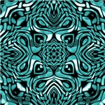 Turquoise and Black Tribal Design