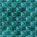Contemporary Turquoise Interconnecting Squares Pat