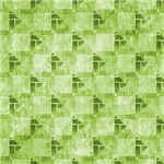 Contemporary Green Interconnecting Squares Pattern