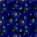 Blue Wispy Flowers and Butterflies