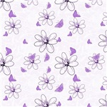 Purple Wispy Flowers and Butterflies