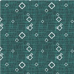 Turquoise and White Diamond Shapes Pattern