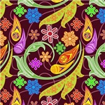 Pretty Colorful Flourishes and Flowers