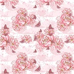 Pretty Pink Frilly Flowers Pattern