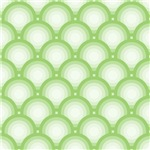 Green and White Overlapping Circles Pattern