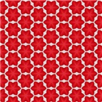 Red Six Point Star Pattern