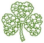 St. Patrick's Day Shamrock Skulls