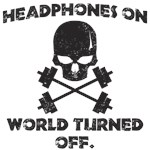 Headphones on world turned off