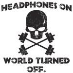 Headphones on world turned off