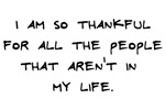 Thankful for people