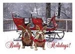 Reindeer Bulldog Holidays Christmas