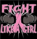 Breast Cancer Fight Like A Girl Boxing Shirts
