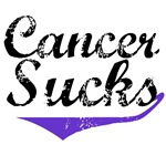 Grunge Style Cancer Sucks Pancreatic T-Shirts