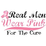 Real Men Wear Pink For The Cure Shirts & Gifts