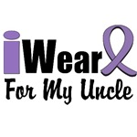 I Wear Violet Ribbon For My Uncle Shirts