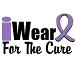 I Wear Violet Ribbon For The Cure Shirts