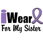 I Wear Violet Ribbon For My Sister Shirts