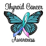 Thyroid Cancer Awareness Butterfly T-Shirts & Gift