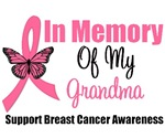 In Memory Of My Grandma Breast Cancer T-Shirts