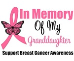 In Memory Of My Granddaughter Breast Cancer Shirts