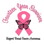 14 Year Breast Cancer Survivor T-Shirts