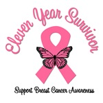 11 Year Breast Cancer Survivor T-Shirts
