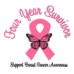 4 Year Breast Cancer Survivor T-Shirts