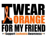 I Wear Orange For My Friend Leukemia Shirts