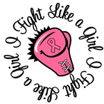 I Fight Like a Girl Breast Cancer T-Shirts