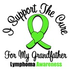 I Support The Cure Grandfather Lymphoma Shirts
