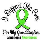 I Support The Cure Granddaughter Lymphoma Shirts