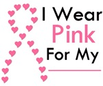I Wear Pink Heart Ribbon Shirts & Gifts