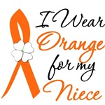 I Wear Orange Flower Niece Leukemia Shirts