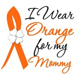 I Wear Orange Flower Mommy Leukemia Shirts