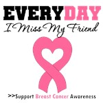 Everyday I Miss My Friend Breast Cancer T-Shirts
