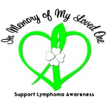 Lymphoma In Memory Heart T-Shirts & Gifts