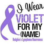 Hodgkin's Lymphoma I Wear Violet Ribbon T-Shirts