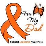 Leukemia Ribbon For My Dad Shirts & Gifts