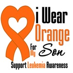 Leukemia I Wear Orange For My Son Shirts