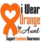 Leukemia I Wear Orange For My Aunt Shirts