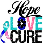 Thyroid Cancer HOPE LOVE CURE T-Shirts & Gifts
