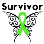 Lymphoma Survivor Butterfly Tribal Shirts