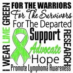 Lymphoma Ribbon Dedication Shirts and Gifts