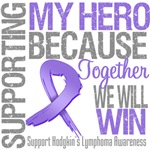 Supporting My Hero Hodgkin's Lymphoma Shirts