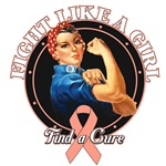 Rosie The Riveter Fight Like a Girl Uterine Cancer