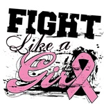 Fight Like a Girl Paint Splatter Breast Cancer
